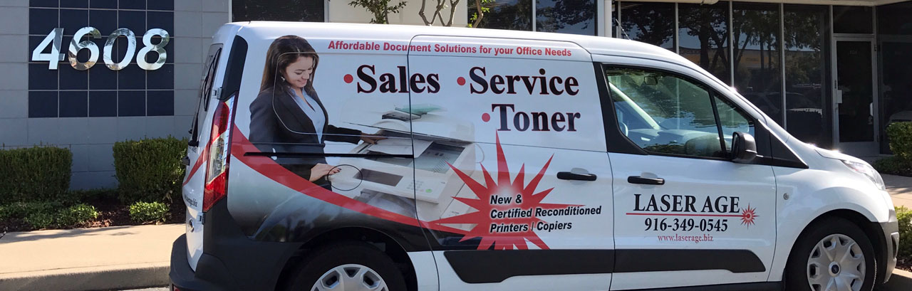Laser Age printer and copier service van